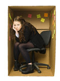 De gedeprimeerde Vrouw van het Bureau Stock Afbeelding