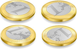Volledige reeks van euro muntstukken één Stock Afbeelding