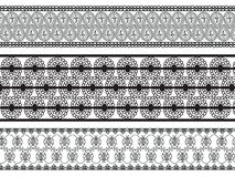 De gedetailleerde Grenzen van de Henna Stock Fotografie