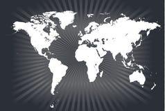 De gedetailleerde vectoren van de wereldkaart royalty-vrije illustratie