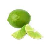 De gediende die samenstelling van het kalkfruit over wordt geïsoleerd Royalty-vrije Stock Foto