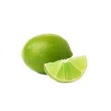De gediende die samenstelling van het kalkfruit over wordt geïsoleerd Royalty-vrije Stock Afbeelding