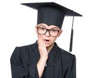 De gediplomeerde student van de tienerjongen royalty-vrije stock fotografie