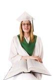 De gediplomeerde van de school Stock Fotografie