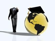 De gediplomeerde van de wereld, student stock illustratie