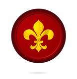 De gedrukte rode geïsoleerdes kleur van het embleemteken Royalty-vrije Stock Afbeelding