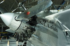 De Geest van Charles Lindbergh van de vliegtuigen van St.Louis op exhibt Royalty-vrije Stock Afbeelding