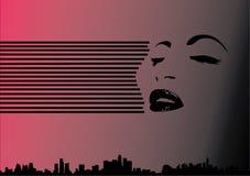 De Geest van de Stad van de vrouw Stock Afbeelding