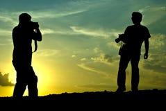 De gefotografeerde fotograaf Stock Fotografie