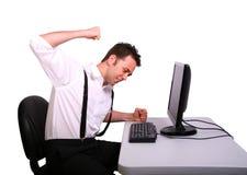 De gefrustreerde Exploitant van de Computer Stock Afbeelding