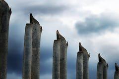 De gegalvaniseerde omheining van de staalveiligheid Royalty-vrije Stock Fotografie