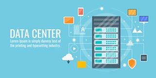 De gegevens centreren, betrekken gegevensverwerking, het ontvangen, server, veiligheid, het concept van de voorzien van een netwe Stock Afbeelding