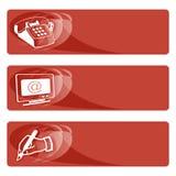 De gegevens etiketteren rood Stock Afbeelding