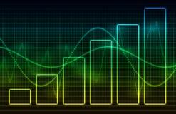 De Gegevens van de Grafiek van de Spreadsheet van financiën Royalty-vrije Stock Afbeeldingen