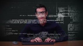 De gegevens van de hakkerdownload stock video