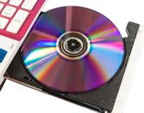 De gegevens van de lading in laptop. Stock Afbeelding