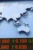 De gegevens van de voorraad met kaart Stock Fotografie