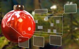 De gegevens van Kerstmis Stock Afbeeldingen