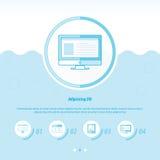 De gegevens verwerkende blauwe kleur van het Conceptontwerpmalplaatje Stock Afbeelding