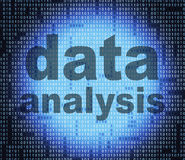 De gegevensanalyse wijst Feiten op Feiten en analyseert Stock Afbeeldingen
