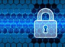 De Gegevensbescherming van de Bedrijfs cyberveiligheid Technologieprivacy Stock Afbeeldingen