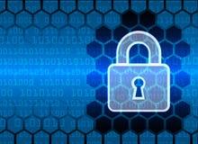 De Gegevensbescherming van de Bedrijfs cyberveiligheid Technologieprivacy Stock Fotografie