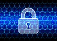 De Gegevensbescherming van de Bedrijfs cyberveiligheid Technologieprivacy Royalty-vrije Stock Foto's