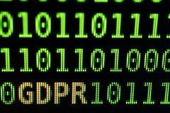 De gegevensbeschermingregelgeving van GDPR algemeen concept royalty-vrije stock afbeelding