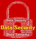 De gegevensbeveiliging wijst op Beschermde Login en Privacy Royalty-vrije Stock Afbeelding