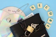 De gegevensveiligheid van de computer Stock Afbeelding