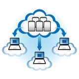 De Gegevensverwerking van de wolk Stock Afbeelding