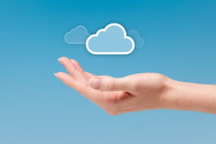 De gegevensverwerking van de wolk royalty-vrije stock afbeelding
