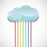 De gegevensverwerking van de wolk royalty-vrije illustratie