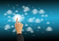 De gegevensverwerking van de wolk royalty-vrije stock foto's