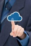 De gegevensverwerking van de wolk stock fotografie