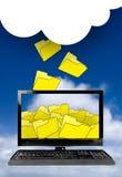 De gegevensverwerking van de wolk stock foto