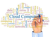 De gegevensverwerking van de wolk. stock fotografie