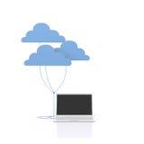 De gegevensverwerking van de wolk. Stock Foto