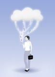De Gegevensverwerking van de wolk - de Mobiele Dienst vector illustratie