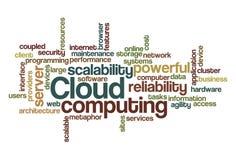 De gegevensverwerking van de wolk - de Wolk van Word Stock Afbeeldingen
