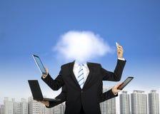 De gegevensverwerking van de wolk en het bedrijfs denken stock foto's