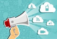 De gegevensverwerking van de wolk marketing concept. Royalty-vrije Stock Afbeelding