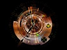 De Gegevensverwerking van het uurwerk royalty-vrije illustratie