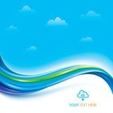 De gegevensverwerkingsachtergrond van de wolk Royalty-vrije Stock Foto's