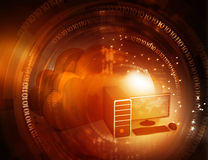 De gegevensverwerkingsachtergrond van de wolk Stock Afbeelding