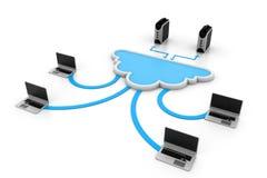 De gegevensverwerkingsapparaten van de wolk Stock Afbeelding