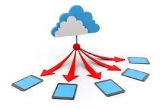 De gegevensverwerkingsapparaten van de wolk Stock Illustratie