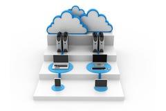 De gegevensverwerkingsapparaten van de wolk Royalty-vrije Stock Foto's