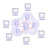 De gegevensverwerkingsconcept van de wolk Royalty-vrije Stock Fotografie