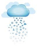 De gegevensverwerkingsconcept van de wolk Royalty-vrije Stock Foto's